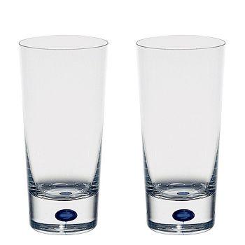 Orrefors - Intermezzo Blue Set of 2 Highball Glasses