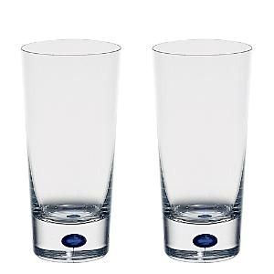 Orrefors Intermezzo Blue Set of 2 Highball Glasses