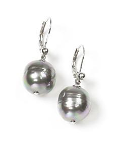 Majorica Women's 12mm Baroque Grey Simulated Pearl Drop Earrings - Bloomingdale's_0