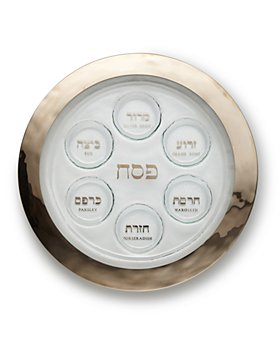 Annieglass - Platinum Seder Plate