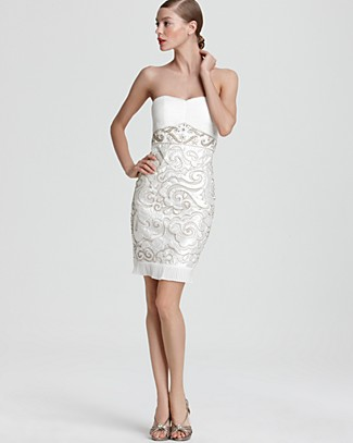 Sue wong strapless dress embellished bloomingdale 39 s for Sue wong robes de mariage