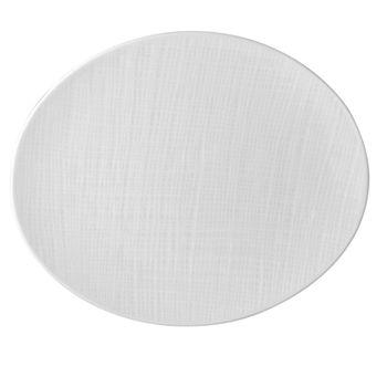 "Bernardaud - Organza White Oval Platter, 15"""