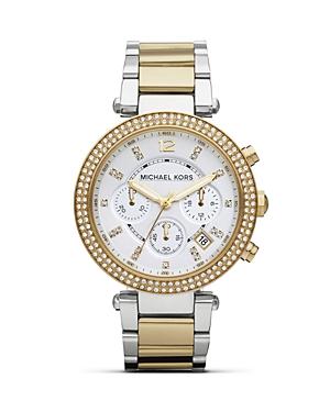 Michael Kors Two-Tone Parker Glitz Bracelet Watch, 39mm