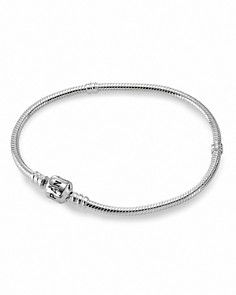 PANDORA Moments Collection Sterling Silver Signature Clasp Bracelet - Bloomingdale's_0