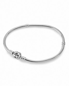 Pandora - Moments Collection Sterling Silver Signature Clasp Bracelet