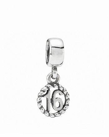 PANDORA - Dangle Charm - Sterling Silver Sweet 16