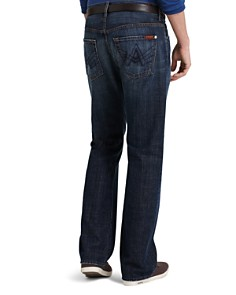 7 For All Mankind - Brett A-Pocket Bootcut Fit Jeans in New York Dark