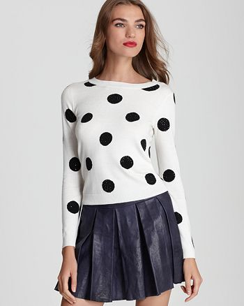 Alice and Olivia - Celyn Sequin Polka Dot Sweater