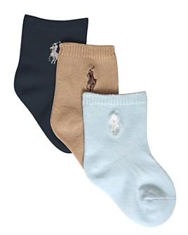 Ralph Lauren - Boys' Crew Socks, 3 Pack - Baby
