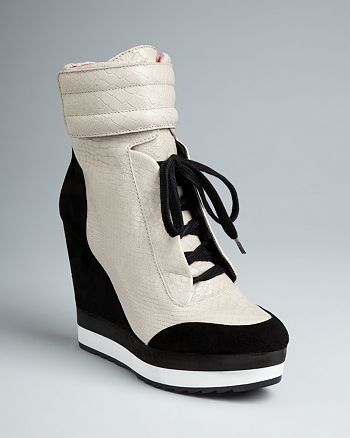 fd5b68a63000 Boutique 9 - High Top Wedge Sneaker Booties - Whispers