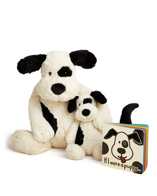Jellycat - Bashful Puppy Toy & If I Were a Puppy Book - Ages 0+