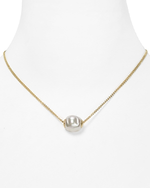 Majorica Double Chain Simulated Pearl Necklace, 16