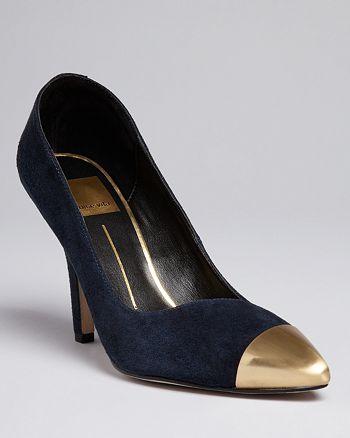 Dolce Vita - Pointed Toe Cap Toe Pumps - Selina High-Heel