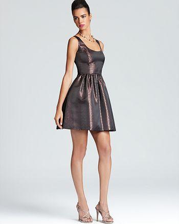 AQUA - Aqua Sleeveless Dress - Scoop Neck Metallic - 100% Exclusive