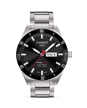 Tissot PRS516 Men's Black Automatic Sport Watch, 42mm