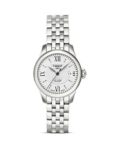 Tissot Le Locle Women's Silver Stainless Steel Automatic Watch, 25mm - Bloomingdale's_0