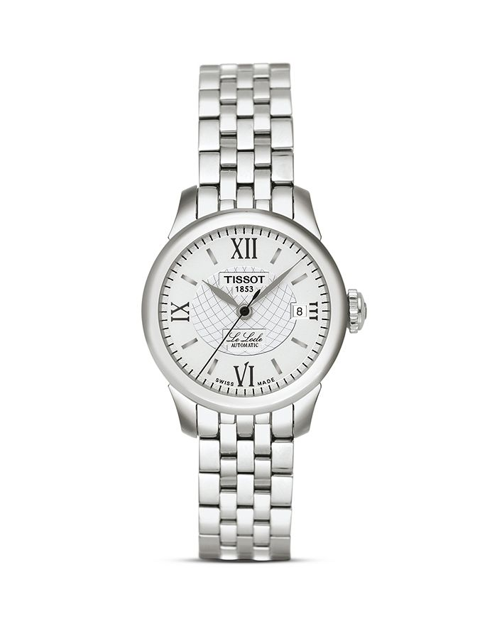 Tissot - Le Locle Women's Silver Stainless Steel Automatic Watch, 25mm