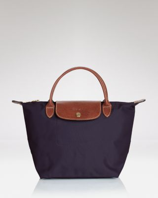 Popular Portable Longchamps Le Pliage Hobo Bags White