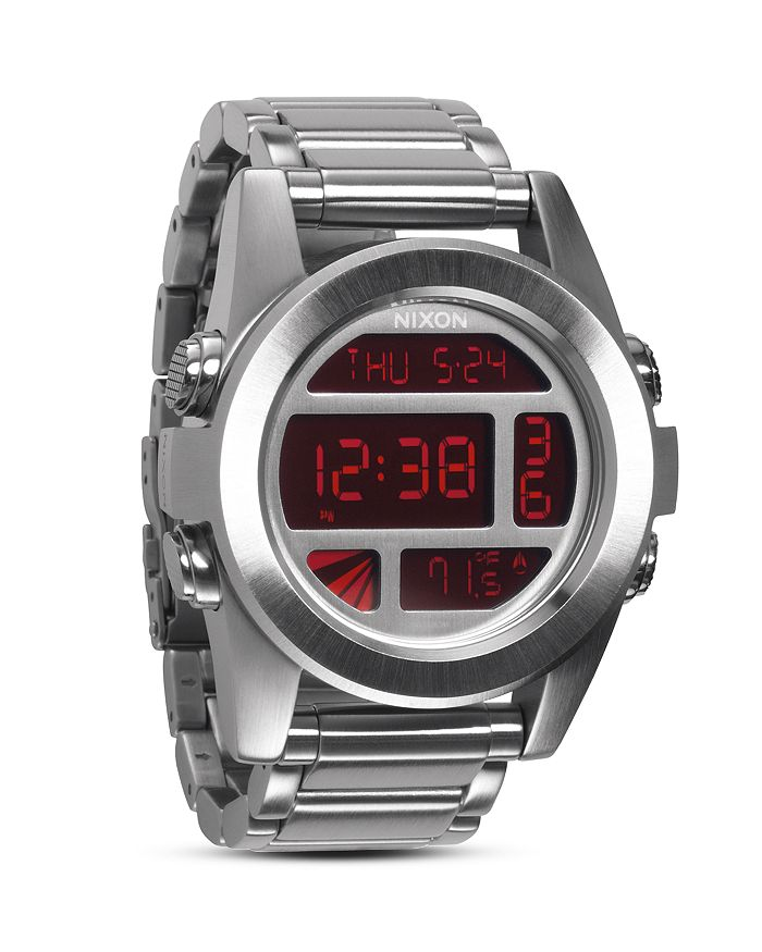 Nixon Watches THE UNIT WATCH IN SILVER, 49MM