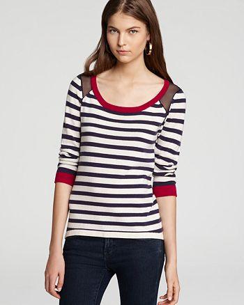 JAMISON - Quotation:  Sweater - Gian Striped Silk Back