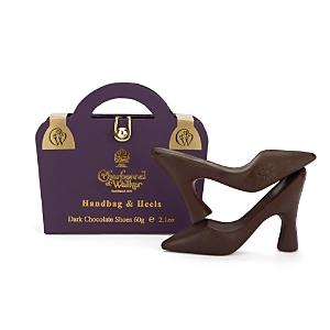 Charbonnel et Walker Purple Handbag and Heels, Dark Chocolate