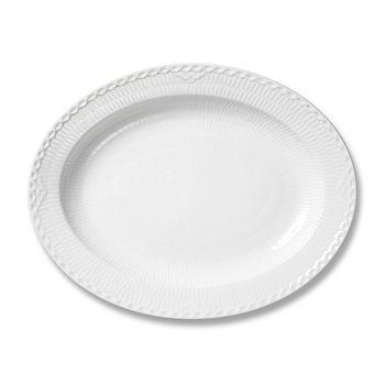 Royal Copenhagen - White Half Lace Platter