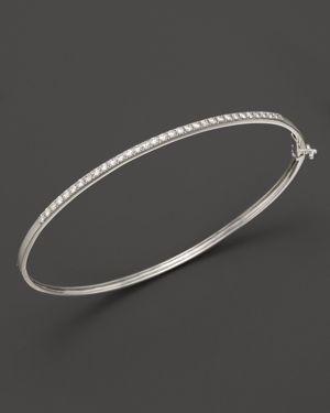 Diamond Bangle in 14K White Gold, .40 ct. t.w. - 100% Exclusive
