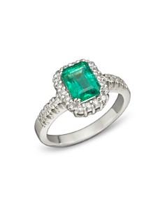 Emerald and Diamond Ring in 14K White Gold - 100% Exclusive - Bloomingdale's_0