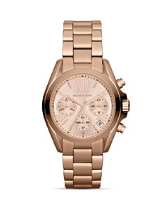 Michael Kors Mini Bradshaw Chronograph Watch in Rose Gold, 35mm - Bloomingdale's_0