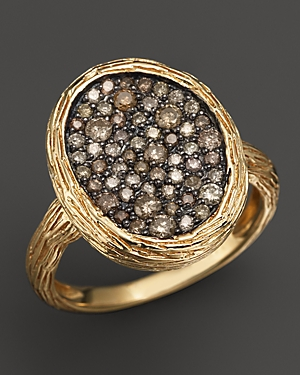Brown Diamond Ring in 14K Yellow Gold - 100% Exclusive