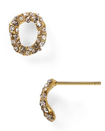 Alexis Bittar - Jardin De Papillon Chain Link Stud Post Earrings