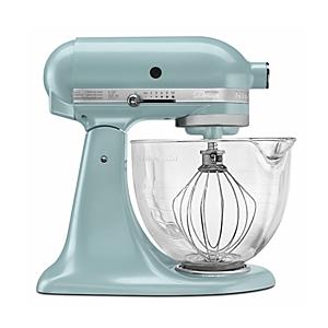 KitchenAid Artisan Design 5-Quart Stand Mixer with Glass Bowl #KSM155GB