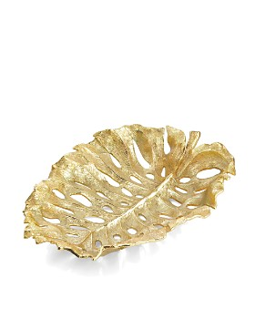 Michael Aram - Michael Aram Monstera Leaf Gold Centerpiece
