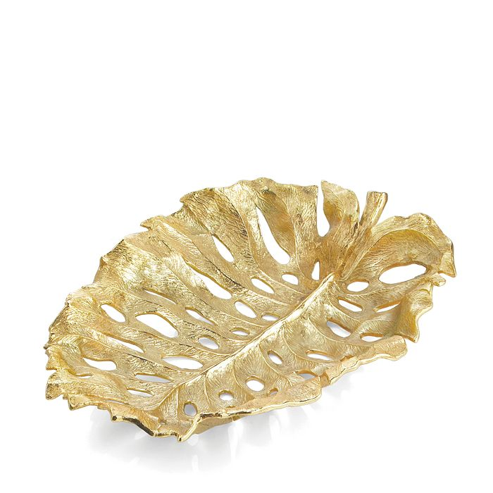 Michael Aram - Monstera Leaf Gold Centerpiece