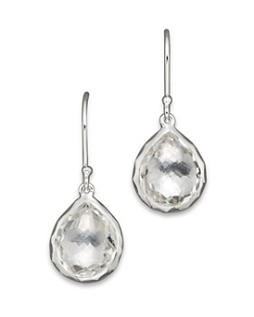 bff3ba431 IPPOLITA - Sterling Silver Rock Candy Teeny Teardrop Earrings In Clear  Quartz
