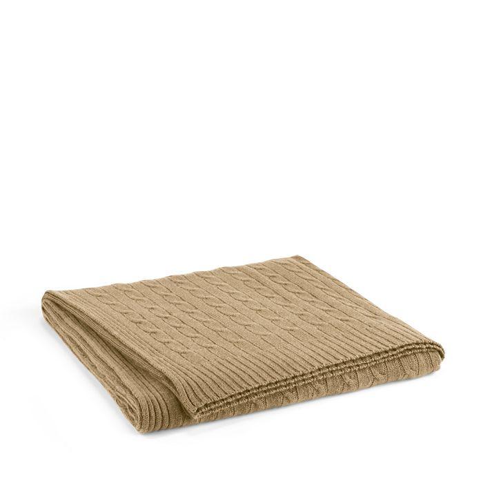 Ralph Lauren - Cable Cashmere Throw Blanket