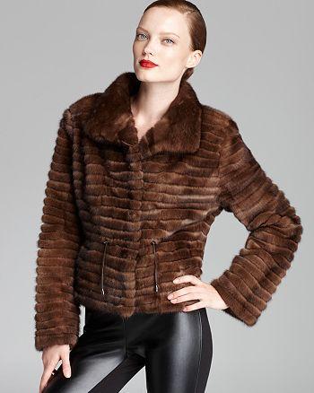 Maximilian Furs - Mink Corduroy Drawcord Coat