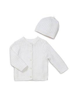 Little Me - Unisex Cable-Knit Cardigan & Hat Set - Baby
