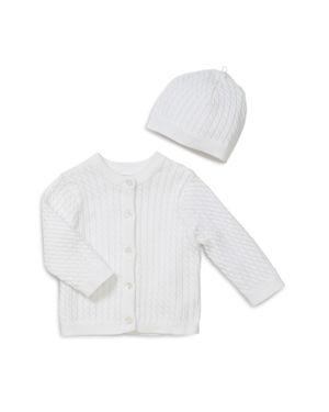 Little Me Unisex Cable-Knit Cardigan & Hat Set - Baby