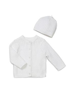 Little Me Unisex Cable-Knit Cardigan & Hat Set - Baby-Kids