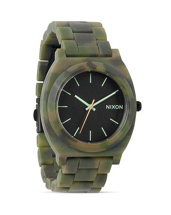 Nixon - The Time Teller Acetate Camo Watch, 37mm