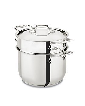 All-Clad - Gourmet Accessories 6-Quart Pasta Pot with Lid, Stainless Steel