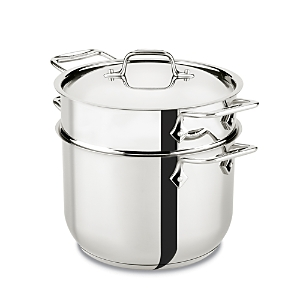 All-Clad Gourmet Accessories 6-Quart Pasta Pot with Lid, Stainless Steel