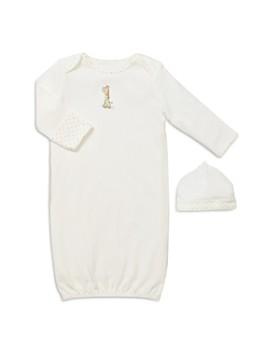Little Me - Unisex Giraffe Gown & Hat - Baby