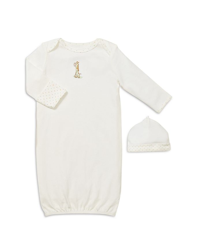 Little Me - Unisex Giraffe Gown & Hat - Baby