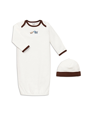 Little Me Boys Cute Puppies Gown  Hat  Baby