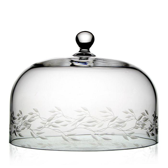 "William Yeoward Crystal - Garland Cake Dome, 10.5"""