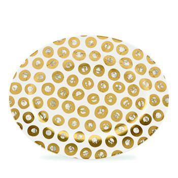 Michael Wainwright - Tempio Luna Gold Oval Platter