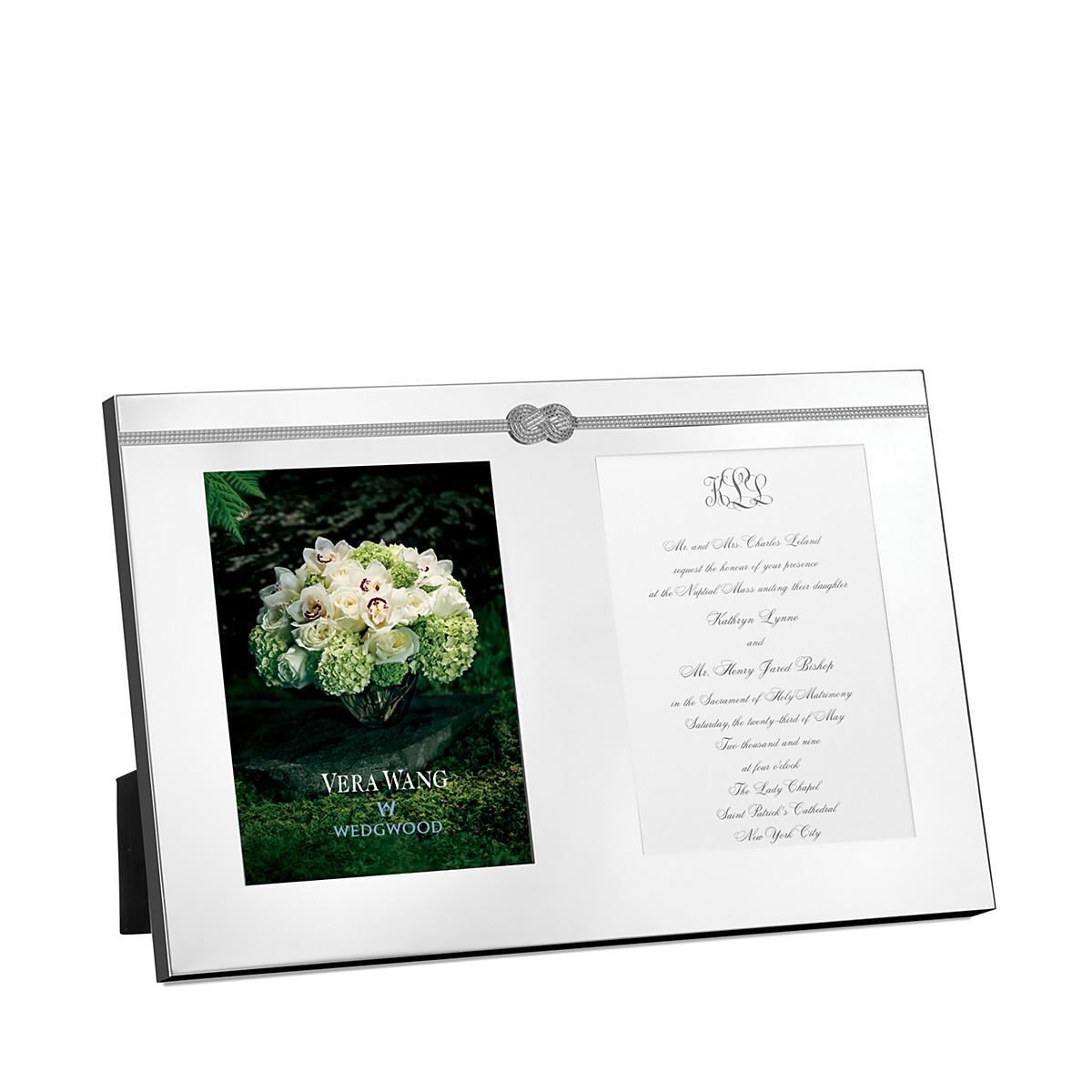 Vera Wang Wedgwood Infinity Double Invitation Frame | Bloomingdale\'s