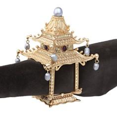 L'Objet Gold Plated Pagoda Napkin Rings, Set of 2 - Bloomingdale's Registry_0